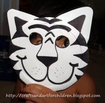 Paper Plate Animal Mask Template